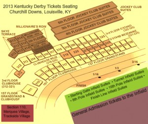 2013 Kentucky Derby Tickets Seating