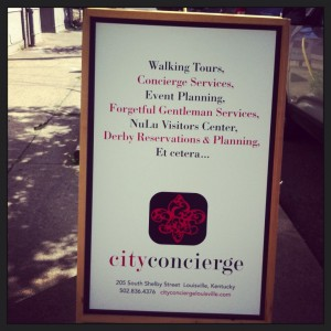 City Concierge Louisville Tours Signs